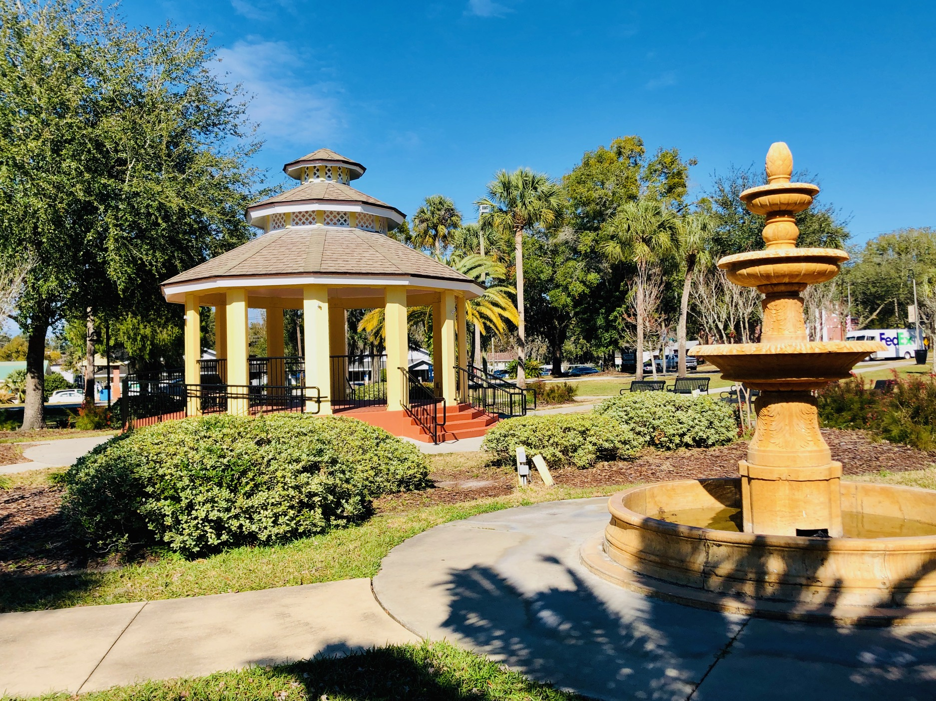 Dickinson Park Fountain and Gazebo