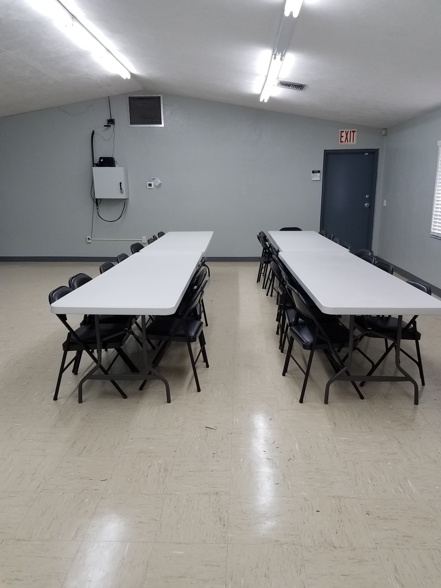 Tables in meeting room