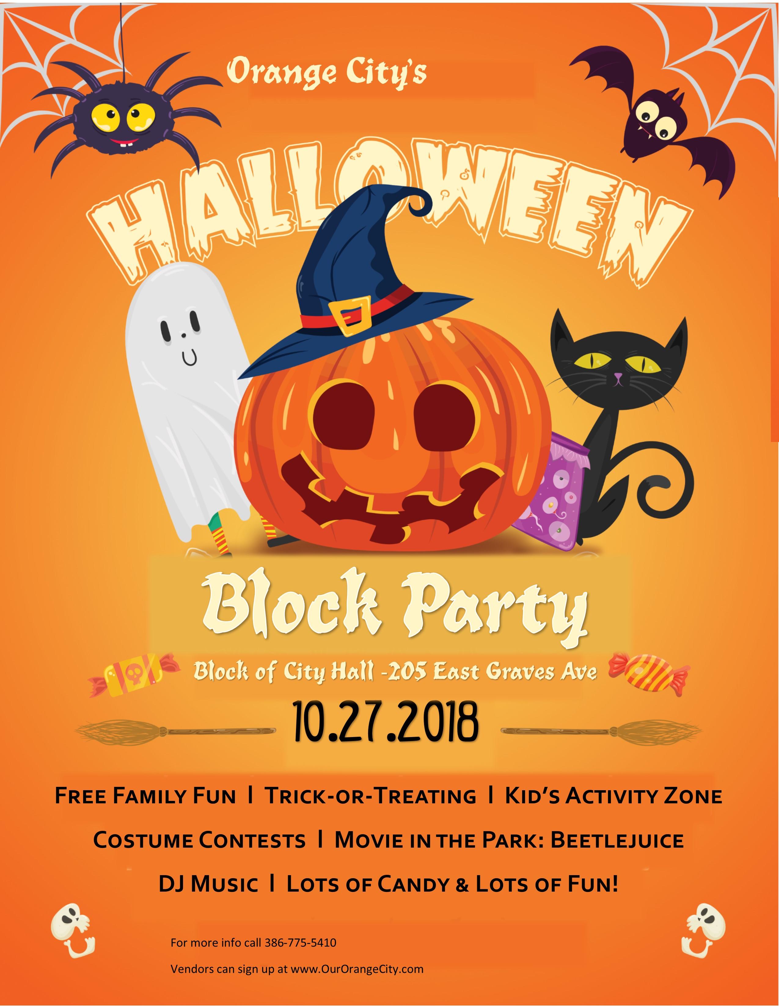 Halloween Block Party – City of Orange City